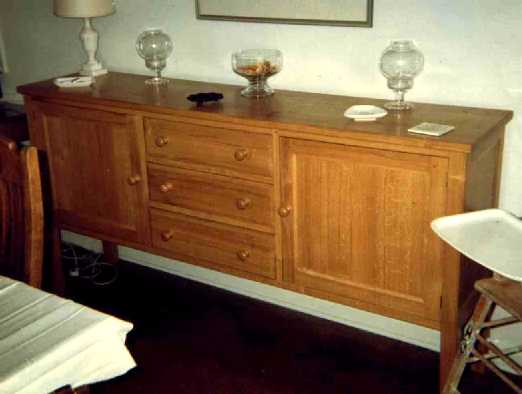 Click for a bigger picture - Sideboard in Solid Oak